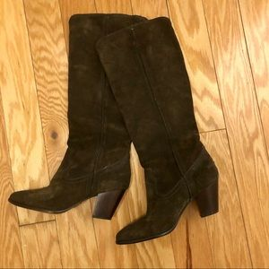 Frye suede knee high boots